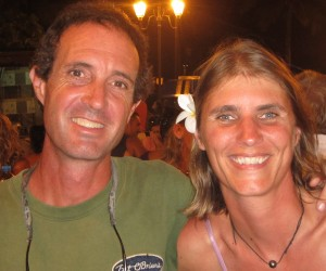 Liesbet and Mark roulottes Tahiti