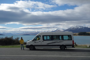 The campervan Mark and I rented in May last year, for a three week work vacation in the South Island of New Zealand