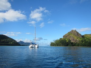 Irie in peaceful Taravai, Gambier Islands, French Polynesia