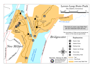 Map of Lover's Leap SP