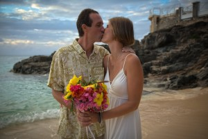 Wedding photo in St. Martin