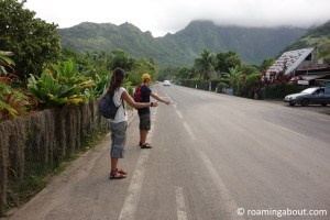 Hitchhiking with friends on South Pacific islands