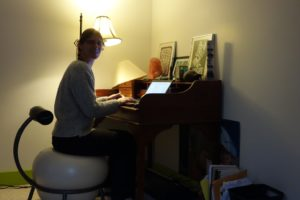 "Writing this blog in our ""new house"" in Heath, MA"