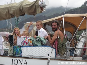 Our favorite boat family on SV Iona. Their circumnavigation is almost complete at this point!