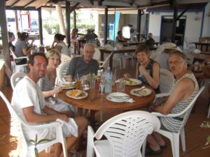 All of our parents visited (and first met each other) in St. Martin in 2009