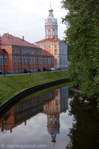 Reflection from the grounds of the Alexander Nevsky Monastery in St. Petersburg, Russia