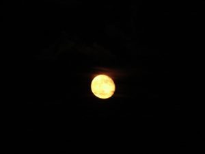 Full moon on our sailboat in Deltaville, VA (October 2007)