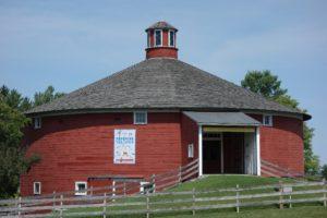 Round barn outside the Shelburne Museum