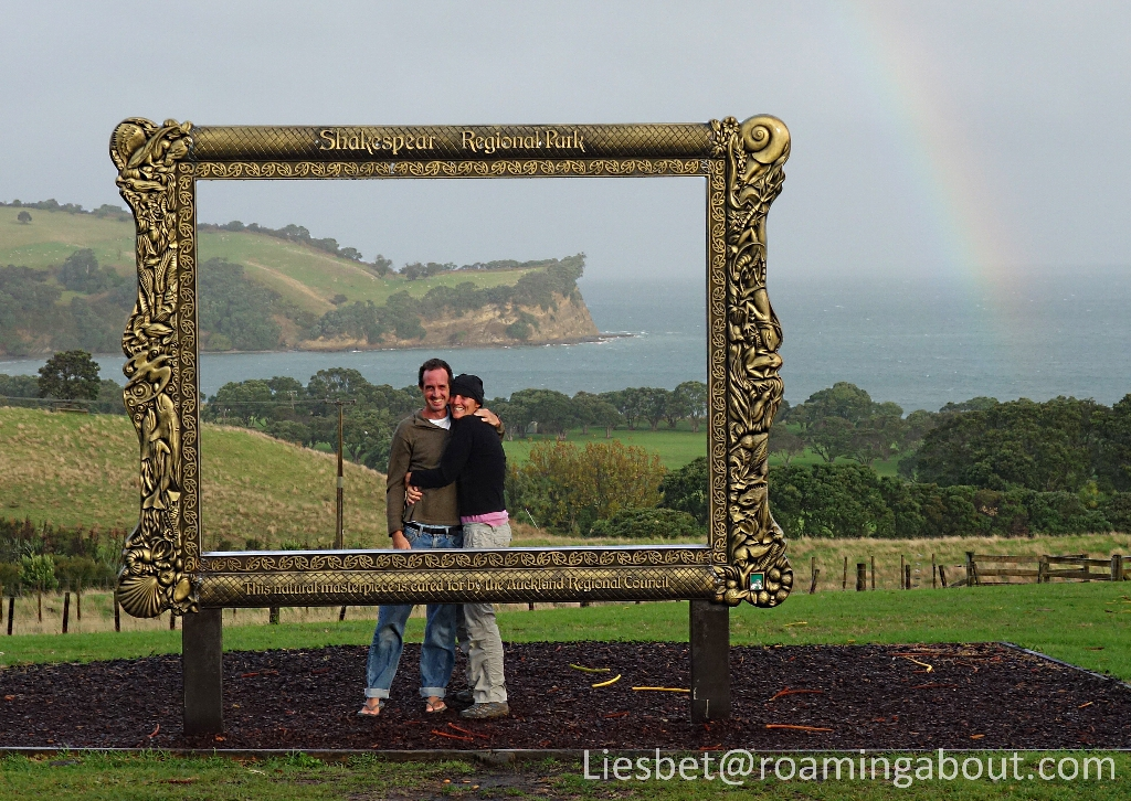 Framed in Shakespear Regional Park, Gulf Harbor, North Island, New Zealand