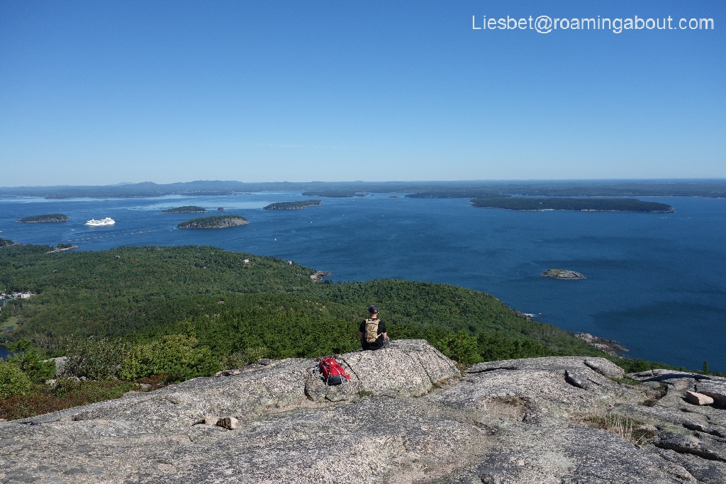 View from the top of Champlain Mountain, Acadia NP - the edge offers front row seats