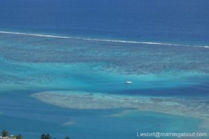 Little Irie seen from the top of a hill in Moorea, French Polynesia