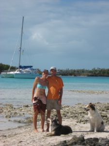 Irie, Mark, Liesbet, Darwin and Kali in the Bahamas